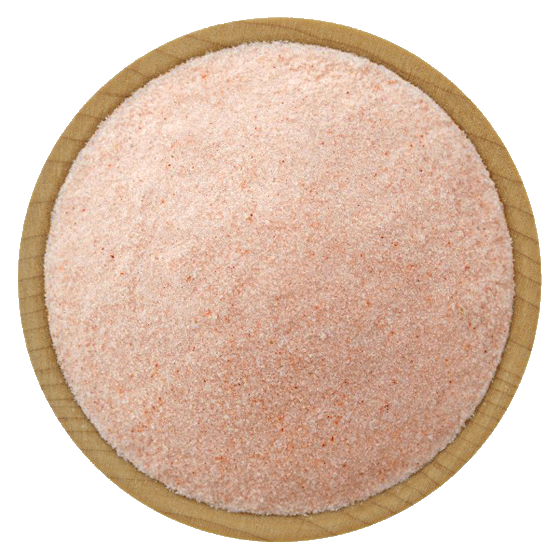 pink himalayan cooking salt powder edible 0.2-0.6mm grain size